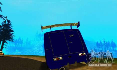 IZH 2715 Novosib Tuning para GTA San Andreas vista traseira