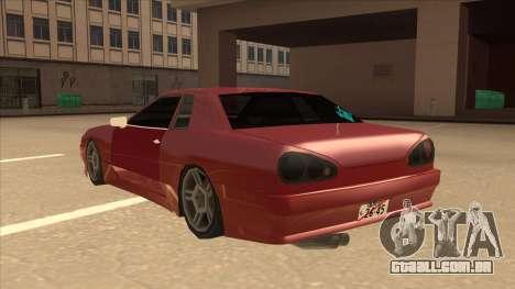 Elegy240sx Street JDM para GTA San Andreas vista traseira
