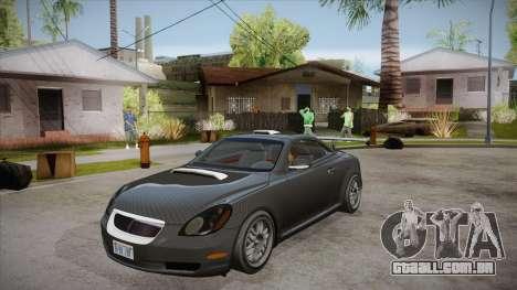Lexus SC430 2JZ-GTE Black Revel para GTA San Andreas interior