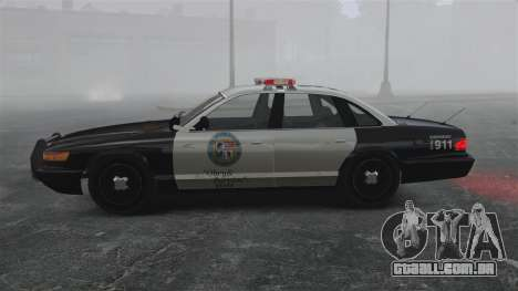 Uma viatura policial GTA V para GTA 4 esquerda vista