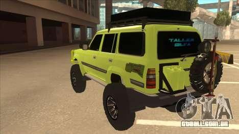 Toyota Land Cruiser para GTA San Andreas vista traseira