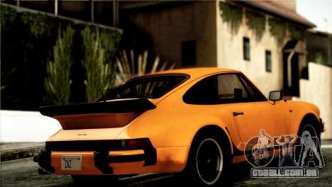Porsche 911 Turbo 3.3 Coupe 1982 para GTA San Andreas traseira esquerda vista