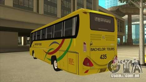 Kinglong XMQ6126Y - Bachelor Tours 435 para GTA San Andreas vista traseira