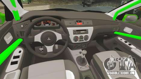 Mitsubishi Lancer Evolution VII Freestyle para GTA 4 vista lateral