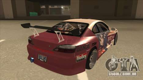 S15 K-ON Itasha para GTA San Andreas vista direita