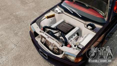 Mercedes-Benz C126 500SEC para GTA 4 vista de volta