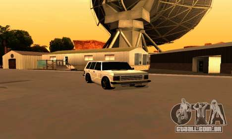 New Huntley para GTA San Andreas esquerda vista