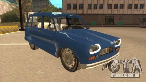 Citroën Ami 8 para GTA San Andreas esquerda vista