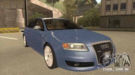 2010 Audi A6 4.2 Quattro para GTA San Andreas esquerda vista