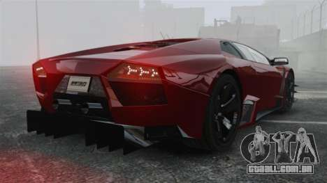 Lamborghini Reventon Body Kit Final para GTA 4 traseira esquerda vista