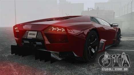 Lamborghini Reventon Body Kit Final para GTA 4 traseira esquerda vista