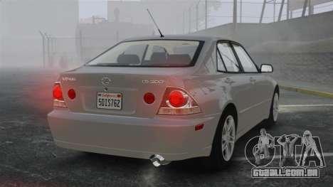 Lexus IS300 para GTA 4 traseira esquerda vista