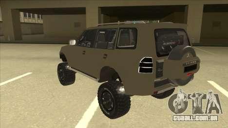 Mitsubishi Montero EDVARD [ERICK] para GTA San Andreas vista traseira