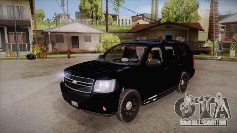 Chevrolet Tahoe LTZ 2013 Unmarked Police para GTA San Andreas