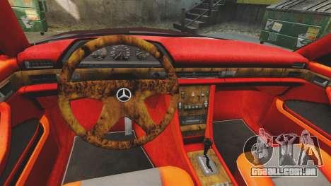 Mercedes-Benz C126 500SEC para GTA 4 vista interior