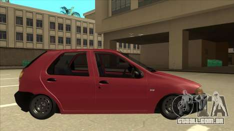 1997 Fiat Palio EDX Edit para GTA San Andreas traseira esquerda vista