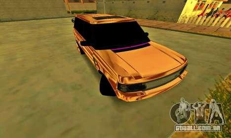 Land Rover Range Rover para GTA San Andreas traseira esquerda vista