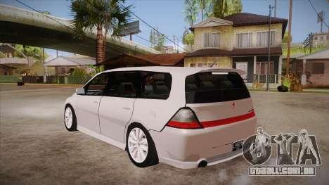 Honda Odyssey v1.5 para GTA San Andreas traseira esquerda vista