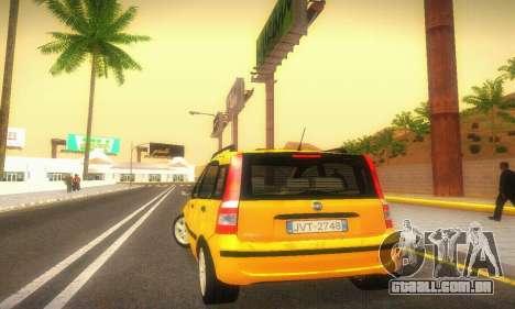 Fiat Panda Taxi para GTA San Andreas vista direita