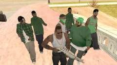 Três caras de uma gangue de rua de Groove