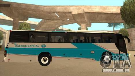 Zaibee Daewoo Express Coach para GTA San Andreas traseira esquerda vista