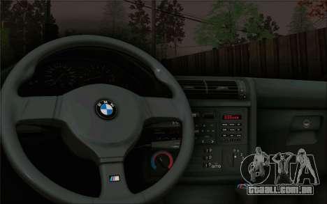 BMW M3 E30 Stance para GTA San Andreas vista traseira