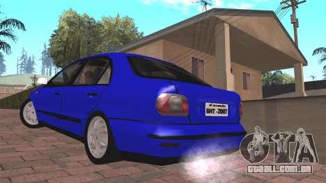 Fiat Marea Sedan para GTA San Andreas esquerda vista