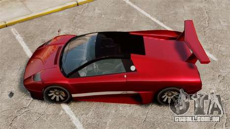 Infernus superior para GTA 4 traseira esquerda vista
