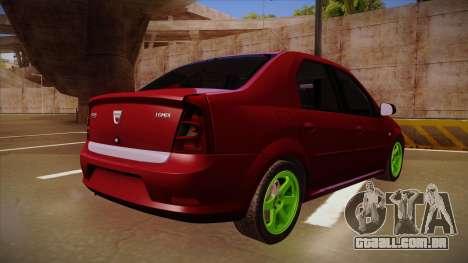 Dacia Logan Hellaflush para GTA San Andreas vista traseira