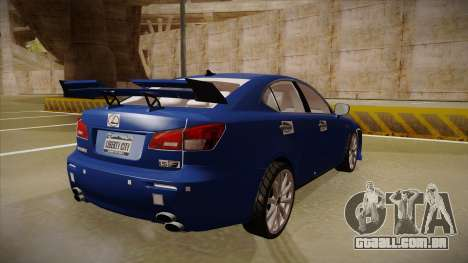 Lexus IS F V1 para GTA San Andreas vista direita
