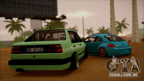 VW Jetta MK2 para GTA San Andreas traseira esquerda vista