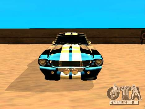 Ford Shelby GT-500E Eleanor para GTA San Andreas esquerda vista