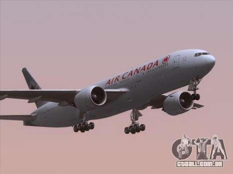 Boeing 777-200ER Air Canada para GTA San Andreas interior