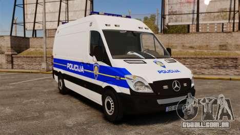 Mercedes-Benz Sprinter Croatian Police v2 [ELS] para GTA 4
