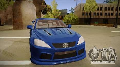 Lexus IS F V1 para GTA San Andreas esquerda vista
