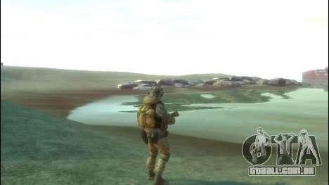 Um soldado russo v 4.0 para GTA 4 por diante tela