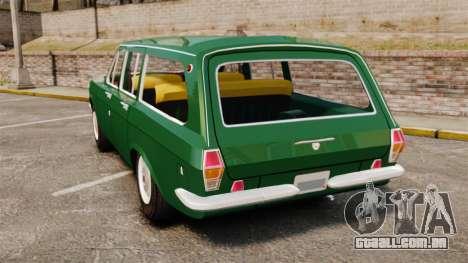 Volga GAZ-24-02 para GTA 4 traseira esquerda vista