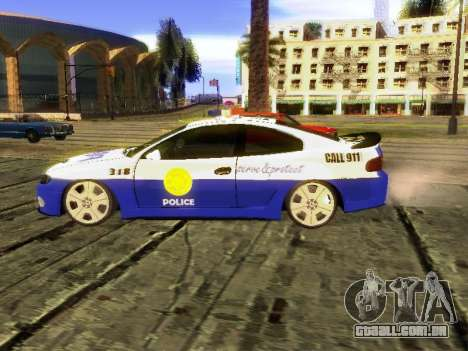 Pontiac GTO Pursit Edition para GTA San Andreas esquerda vista