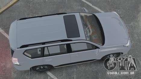Toyota Land Cruiser Prado 150 para GTA 4 vista direita
