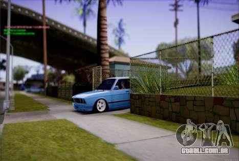 BMW 535I E28 para GTA San Andreas vista traseira