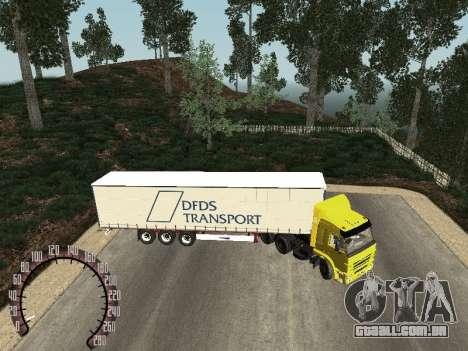 Trailer de Kamaz 54115 para GTA San Andreas esquerda vista