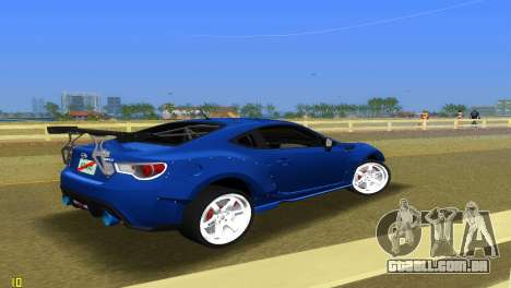 Subaru BRZ Type 5 para GTA Vice City vista direita