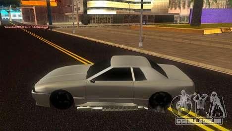 Elegy Estoq para GTA San Andreas esquerda vista