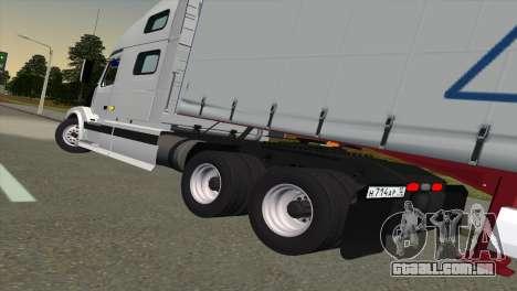 Volvo VNL 670 para GTA San Andreas traseira esquerda vista