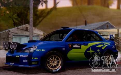 Subaru Impreza WRX STI WRC para GTA San Andreas
