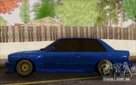 BMW M3 E30 Stance para GTA San Andreas vista direita