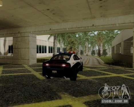 Dodge Charger 2012 Police IVF para GTA San Andreas vista direita