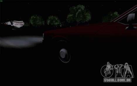 Chevrolet Caprice 1987 para GTA San Andreas vista inferior