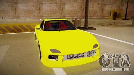 Mazda FD3S BN Sports para GTA San Andreas esquerda vista