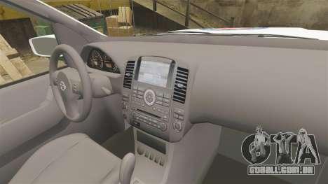 Nissan Pathfinder HGSS [ELS] para GTA 4 vista de volta